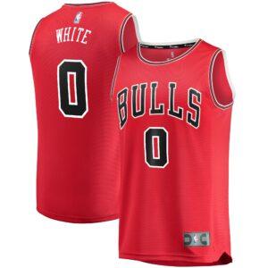 Men's Fanatics Branded Coby White Red Chicago Bulls Replica Fast Break Jersey - Icon Edition