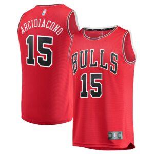 Men's Fanatics Branded Ryan Arcidiacono Red Chicago Bulls Fast Break Road Replica Player Jersey - Icon Edition