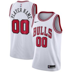 Men's Nike White Chicago Bulls 2020/21 Swingman Custom Jersey - Association Edition