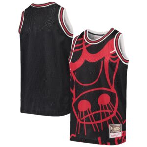 Youth Mitchell & Ness Black Chicago Bulls Big Face Jersey Tank Top