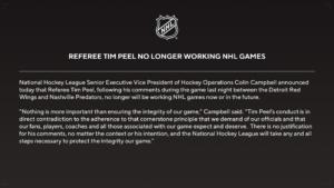 NHL Statement